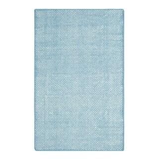Colorfields Panama Blue Handmade Rectangle Area Rug - 5'6 x 8'6