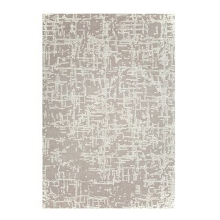 Colorfields Crosshatch Natural Cut and Loop Pile Handmade Rectangle Area Rug - 8'6 x 12'6