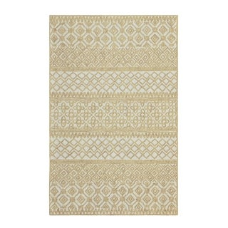 Colorfields Corinth Wheat Hand-tufted Loop Pile Rectangle Area Rug - 2' x 3'