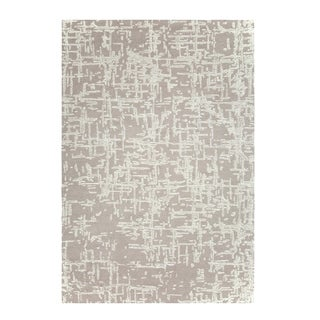 Colorfields Crosshatch Natural Handmade Cut and Loop Pile Rectangle Area Rug - 5'6 x 8'6