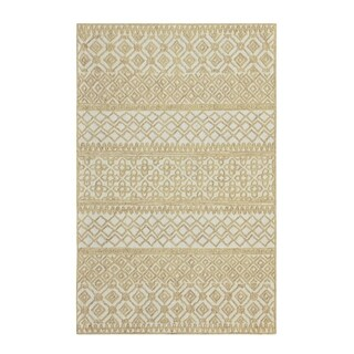 Colorfields Corinth Wheat Handmade Loop Pile Rectangle Area Rug - 8'6 x 12'6