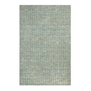Colorfields Tattersall Blue Handmade Rectangle Area Rug - 8'6 x 12'6