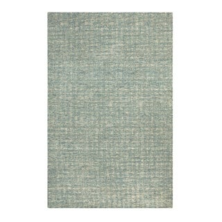 Colorfields Tattersall Blue Handmade Rectangle Area Rug - 7'6 x 9'6