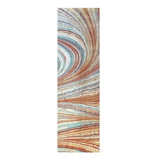 Colorfields Rolling Sands Multi Digitally Printed Rectangle Runner - 2'3 x 8'