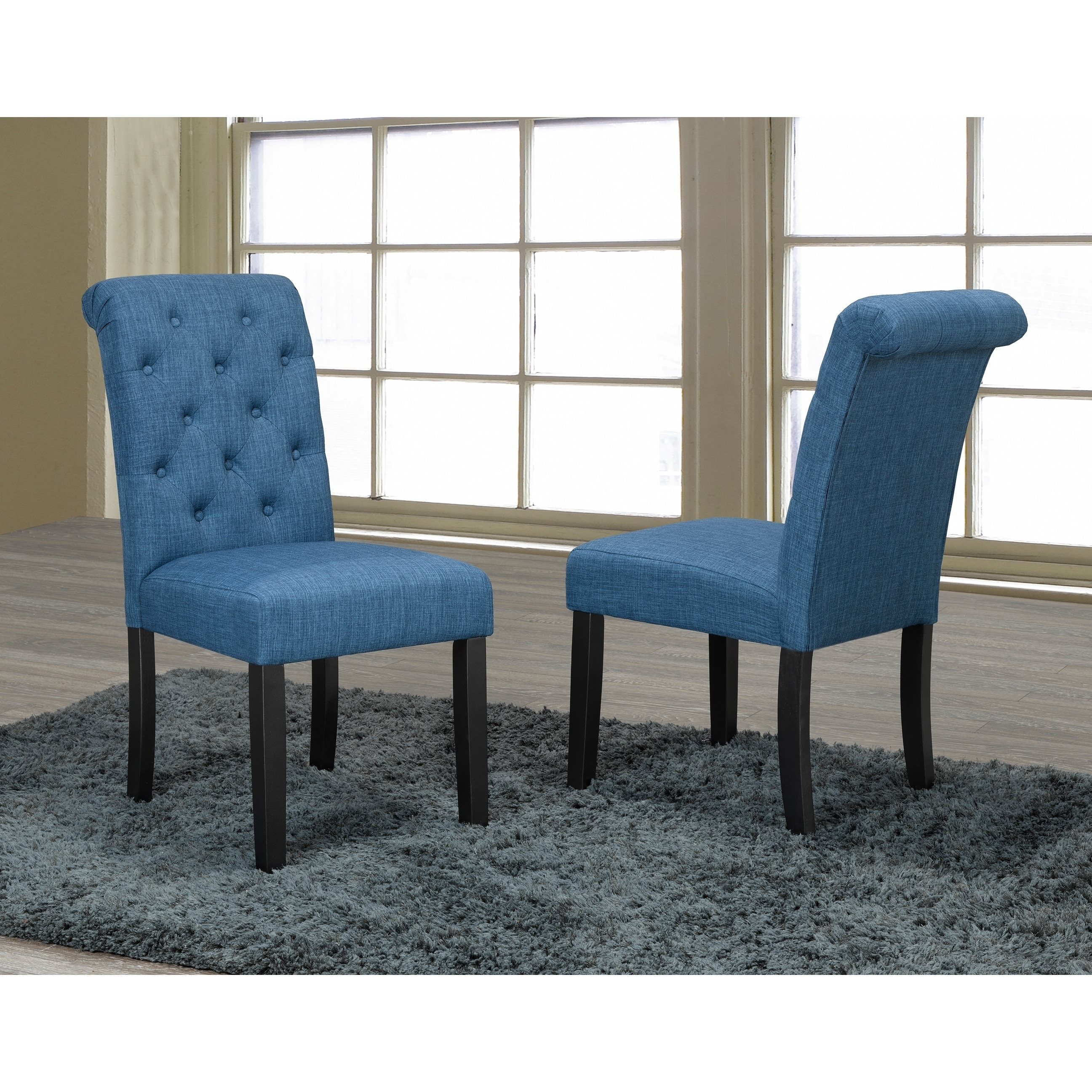 Soho Tufted Dining Chair Set Of 2 Blue