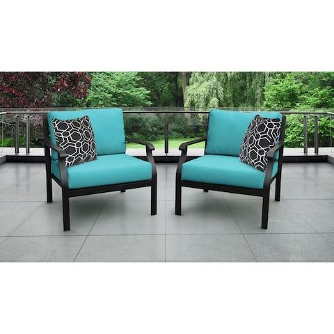 kathy ireland Madison Ave. 2 Piece Outdoor Aluminum Patio Furniture Set 02b