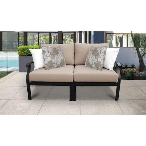 kathy ireland Madison Ave. 2 Piece Outdoor Aluminum Patio Furniture Set 02a