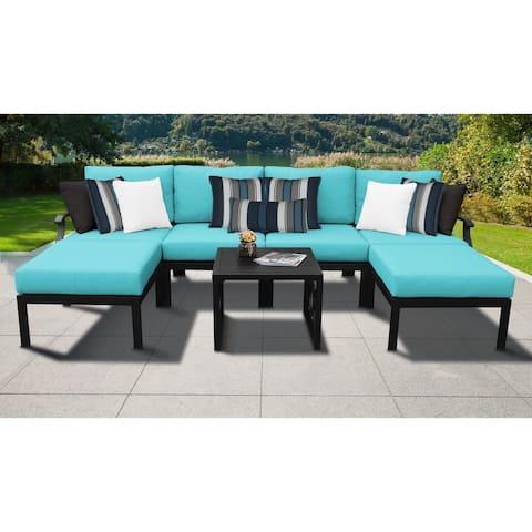 kathy ireland Madison Ave. 7 Piece Outdoor Aluminum Patio Furniture Set 07a
