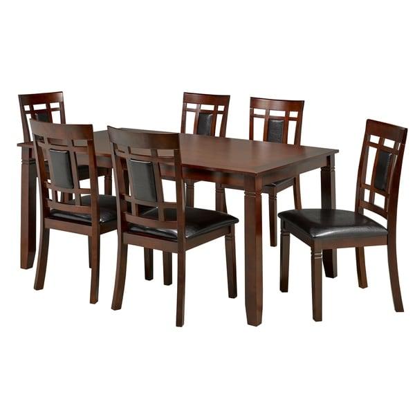 Aliya 7-Piece Dining Set, Dark Walnut
