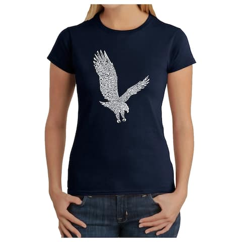 Women's Word Art T-Shirt - Eagle