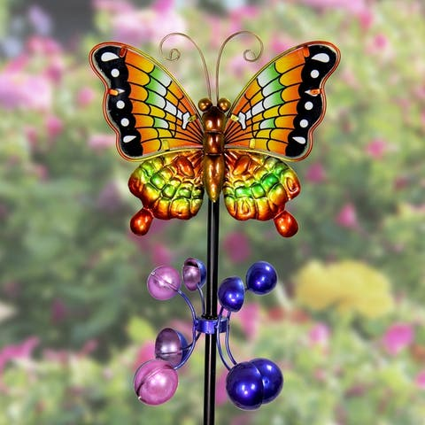 Metal Butterfly Wind Spinner