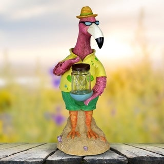 Solar Flamingo w Firefly Jar