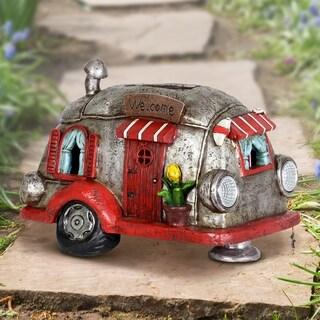 Solar Red and Silver Retro Camper