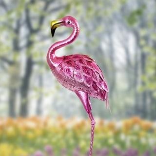 36 Inch Metallic Flamingo