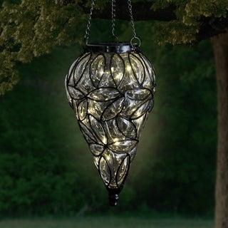 Tear Shaped Solar Glass Hanging Lantern