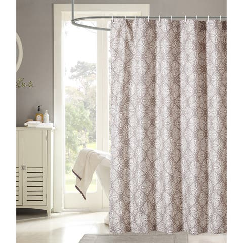 Harper Lane Mapleton Grey Medallion 13-piece Shower Curtain Set