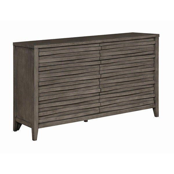 Cheswick Dark Taupe Wood Dresser
