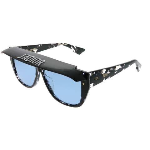715215f16df2d Dior CD DiorClub2 9WZ KU Womens Black Crystal Havana Frame Blue Lens  Sunglasses