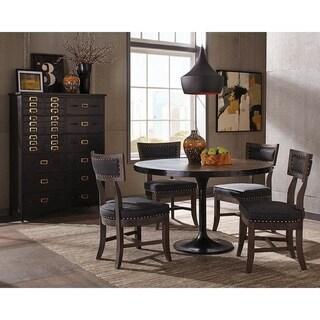 Gately Brown/Matte Black Mango Wood/Iron Round Dining Table