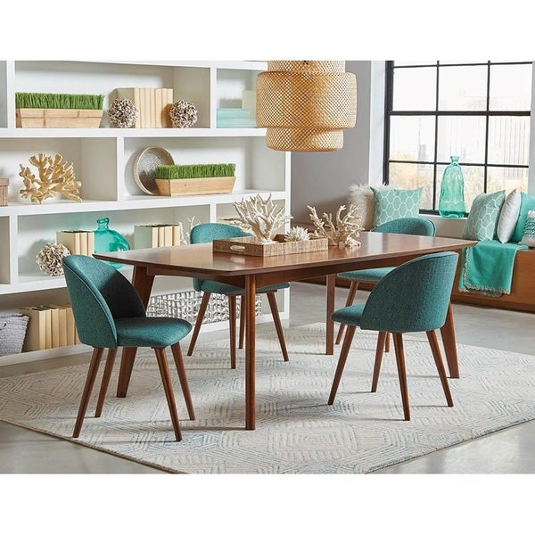 Mariam Mid-century Modern Upholstered Dining Chairs (Set of 2). Opens flyout.