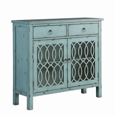 The Curated Nomad Landsend Blue 2-drawer Accent Cabinet