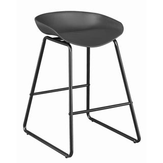 Carbon Loft Bowab Contemporary Bucket Style Counter Height Stools (Set of 2)