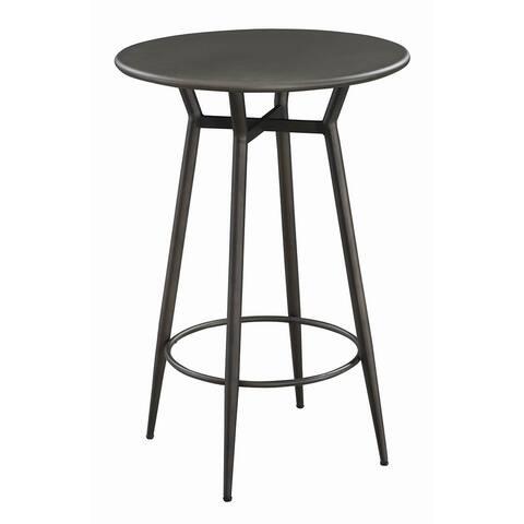 Janos Contemporary Metal Bar Table
