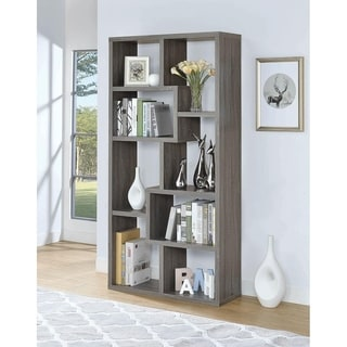 Bynum Weathered Grey 8-shelf Bookcase