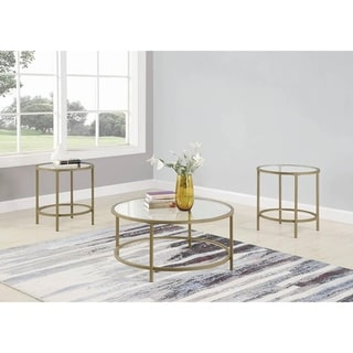 Silver Orchid Howell 3-piece Occasional Table Set