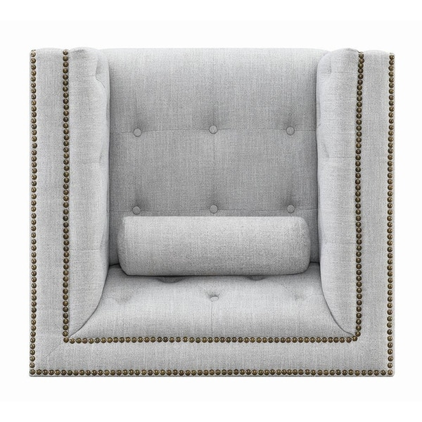 Remarkable Shop Annapolis Creamy White Tufted Accent Chair Free Ibusinesslaw Wood Chair Design Ideas Ibusinesslaworg