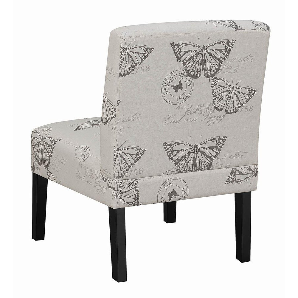 Astonishing Royce Grey Butterfly Print Accent Chair Forskolin Free Trial Chair Design Images Forskolin Free Trialorg