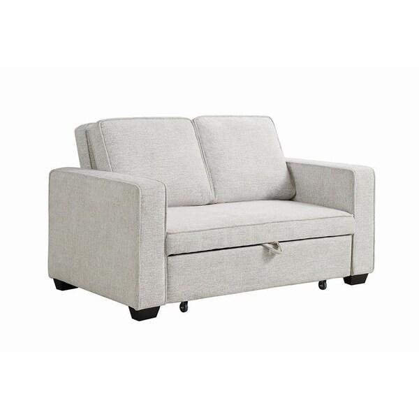 Beige Sleeper Sofa: Shop Copper Grove Dhrousha Beige Linen Sleeper Sofa Bed