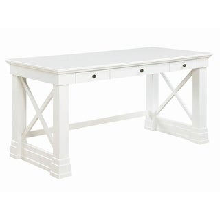 Alton White Wood 3-drawer Writing Desk