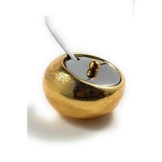 Mini Condiment pot with Spoon (Rustic Finish)
