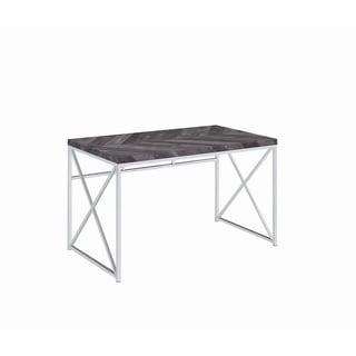 Carbon Loft Waller Rustic Chrome Metal Writing Desk