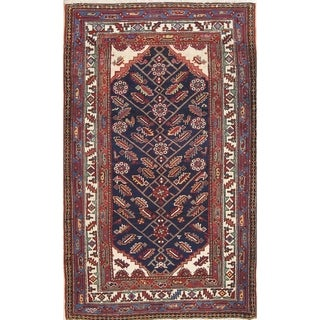 "Antique Malayer Geometric Hand-Knotted Wool Persian Oriental Area Rug - 6'0"" x 3'8"""