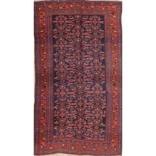 """Antique Bidjar All-Over Geometric Hand-Knotted Wool Persian Area Rug - 8'3"""" x 4'8"""""""
