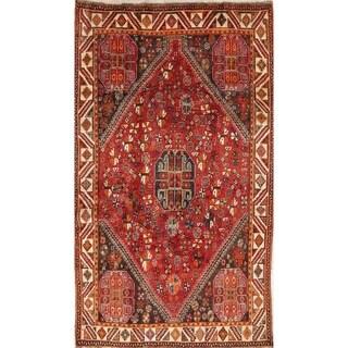 "Vintage Lori Tribal Geometric Hand-Knotted Wool Persian Area Rug - 8'2"" x 4'10"""