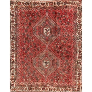 """Antique Lori Tribal Geometric Hand-Knotted Wool Persian Area Rug - 6'5"""" x 4'11"""""""