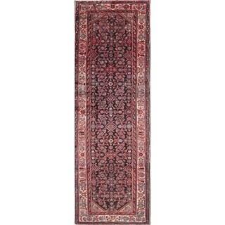 """Vintage Hamedan Geometric Hand-Knotted Wool Persian Oriental Rug - 10'3"""" x 3'6"""" Runner"""