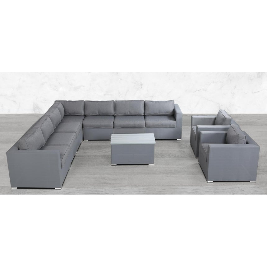 Modular L Shape 10 Piece Sectional Seating Group With Cushions On Sale Overstock 27925012