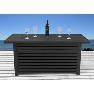 Rectangle Steel Propane Fire Pit Table