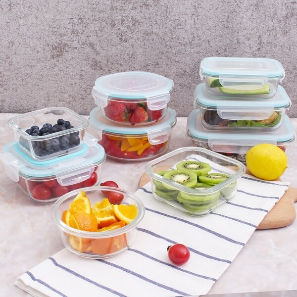 18 Piece Ovenproof Set with Clear Lids