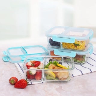 Two Compartment Rectangular Food Storage Container