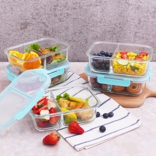 2 Compartment, 5 x 35.5oz. (4.4 cups). Rectangle Containers