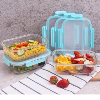 1-Compartment, 3 x 35.5 oz. (4.4 cups) Rectangle Containers