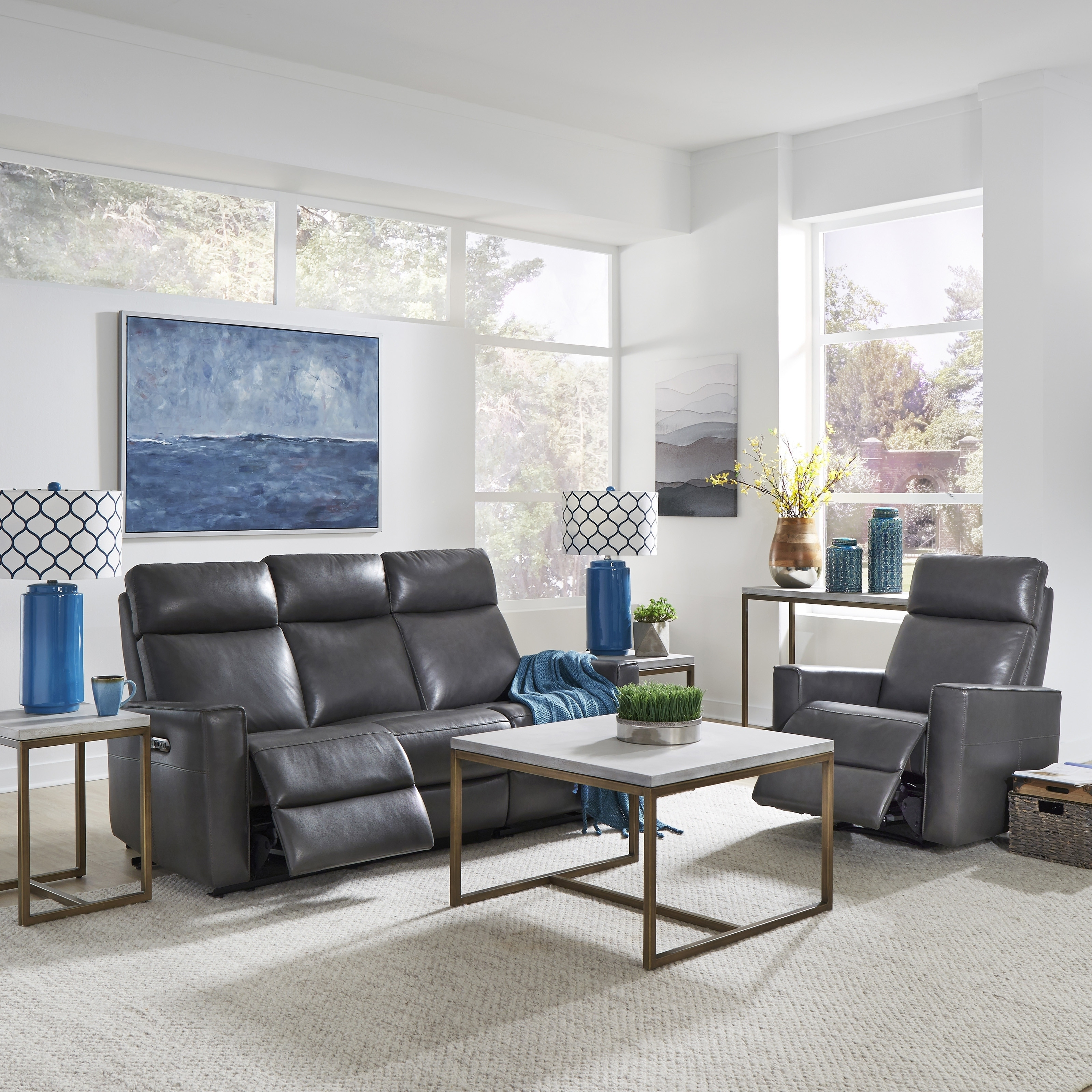 Fine Home Styles By Flexsteel Nuovo Leather Power Reclining Sofa And Recliner Ibusinesslaw Wood Chair Design Ideas Ibusinesslaworg