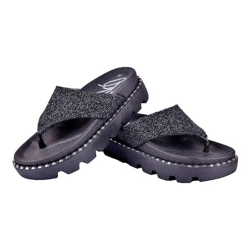 BLUE Women's Catatung Open-toe Platform Slide Sandals
