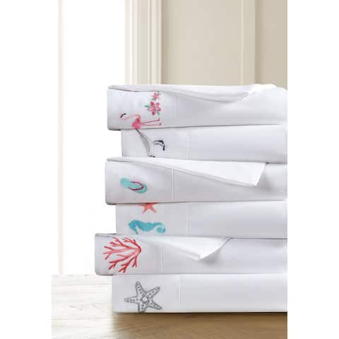 Porch & Den Inglis Coastal Embroidered Pillowcases (Set of 2)