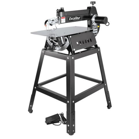 "General International Excalibur 21"" Tilting Head Scroll Saw Kit-w/Foot Switch & Stand - Black"